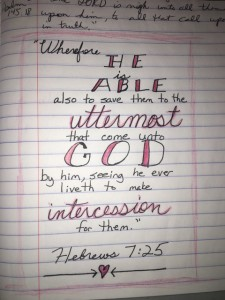 "My first ""journaled"" verse."