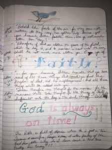 A page from my Bible journal